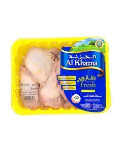 AL KHAZNA FRESH CHICKEN THIGHS - BONE IN SKIN ON