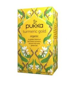 PUKKA WELLNESS TEA TURMERIC GOLD