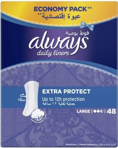 ALWAYS DAILY LINERS EXTRA PROTECT 48 COUNT