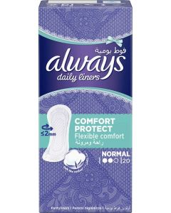 ALWAYS DAILY LINERS COMFORT PROTECT NORMAL 20 COUNT