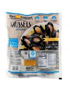 Mussels Whole Shell Frozen 1Kg