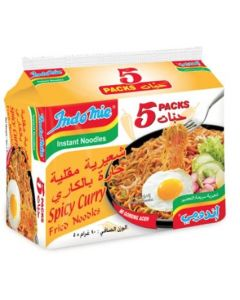 INDOMIE SPICY CURRY FRIED NOODLES 5X90GM