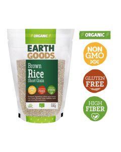 Earth Goods Organic Short Grain Brown Rice Gluten-Free 500gM