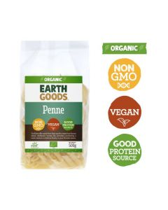 Earth Goods Organic Penne 500GM