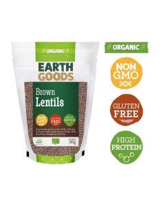 Earth Goods Organic Brown lentils Gluten-Free 340GM
