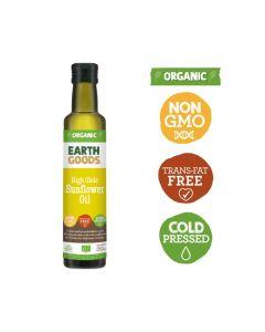 Earth Goods Organic High Oleic Sunflower Oil 250GM