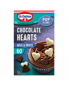 Dr.Oetker Milk and White Chocolate Hearts