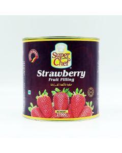 SUPER CHEF STRAWBERRY FRUIT FILLING 2.7 KG