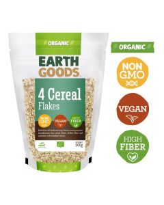 Earth Goods Organic 4 cereal flakes Gluten-Free 500GM