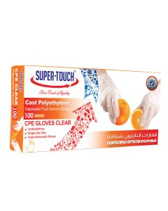 SUPER TOUCH Cpe Gloves Clear
