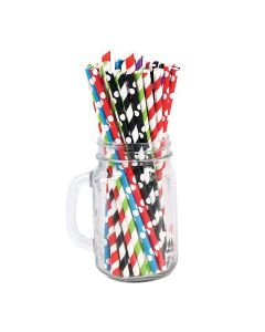 SUPER TOUCH Retail Paper Straw Mix 8 Colors 6 X 197 Mm