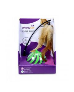 """""""SmartyKat® Feather Whirl™ Electronic Motion Ball Cat Toy """""""