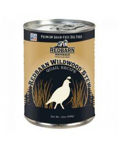Red Barn Natural Quail Wildwoods Stew Dog Food-Strong Teeth & Bones Formula 13oz