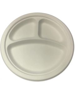 """SUPER TOUCH-BIO-BAGASSE ROUND PLATE 10""""DIV 1 x 500"""