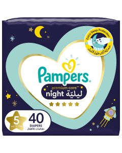 Pampers Premium Care Night Diapers, size 5, 12-17 kg, 40 count