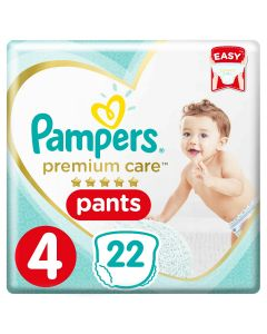 Pampers Premium Care Pants Diapers, Size 4, Maxi,9-14 kg, Carry Pack,22 COUNT