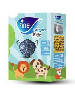 Fine Face Mask Guard Comfort Kids Blue/Green Small