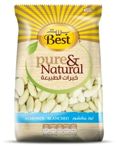 BEST PURE & NATURAL ALMONDS BLANCHED BAG 325 GM