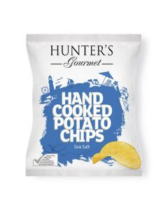 HUNTER'S Hand Cooked Potato Chips Sea Salt 125 GM