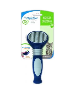 Four Paws Self-Cleaning Slicker Brush - Cat One Size