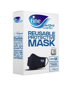 Fine Guard Comfort Adult Face Mask with virus-killing Livinguard Technology, – Medium
