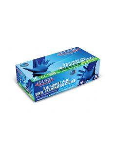 SUPER TOUCH VINYL GLOVES BLUE POWDER FREE - MEDIUM