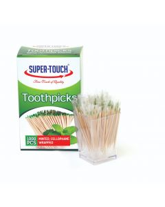 SUPER TOUCH - TOOTH PICKS MINTED CELLO WRAPPED, 12 X 1000