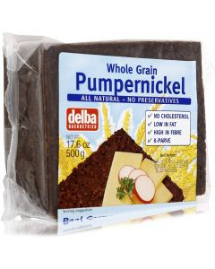 DELBA PUMPERNICKEL BREAD 500 GMS