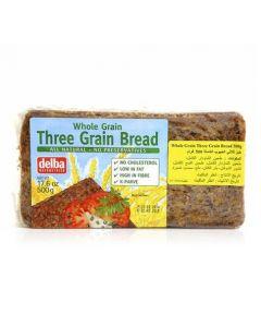 DELBA THREE GRAIN BREAD 500 GMS