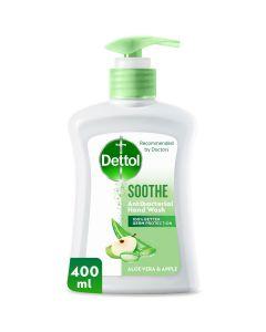 Dettol Soothe Anti-Bacterial Liquid Hand Wash 400 ml - Aloe Vera & Apple
