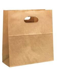 SUPER TOUCH - KRAFT BAG DIE CUT HANDLE 28X28X15CM