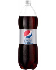 Pepsi Diet Carbonated Soft Drink, Plastic Bottle, 2.25 ltr