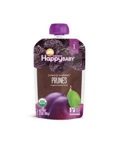 Happy Baby Organic Stage 1, Prunes, Resealable, Fruit & Veggie Puree, Non-GMO, Gluten Free 99 gm