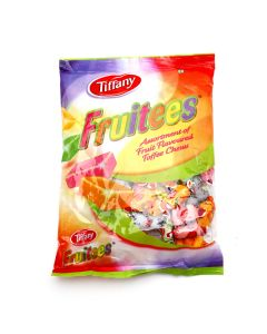 TIFFANY FRUITEES ASSORTMENT OF FRUIT FLAVOURED TOFFEE CHEEWS
