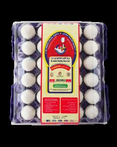 AL JAZIRA EGG MEDIUM TRAY- WHITE- 30 EGGS