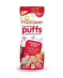 Happy Baby Organic Superfood Puffs, Strawberry & Beet,60 GM