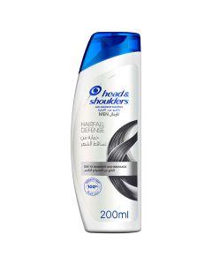 Head & Shoulders Hairfall Defense Anti-Dandruff Shampoo For Men 200ml