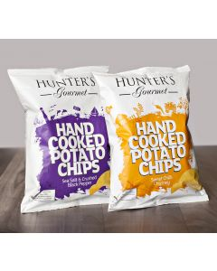 Hunter's Gourmet Hand cooked Potato Chips 2 X 125 GM