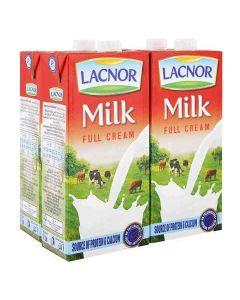 LACNOR MILK FULL CREAM 4 x 1 LTR