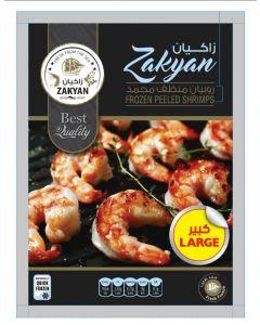 ZAKYAN PEELED & DEVEINED FROZEN SHRIMPS LARGE 400 GM