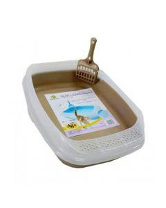 Nutra Pet Cat Toilet Little Cat Litter  Box Brown 46*36.6*11 cm