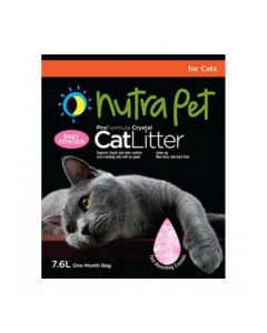 Nutra Pet Cat Litter Silica Gel 7.6L Baby Powder Scent