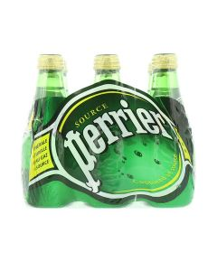 PERRIER SPARKLING WATER 6 X 200 ML