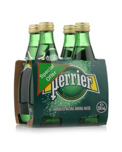 PERRIER SPARKLING WATER 4 x 330 ML