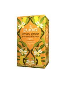 PUKKA WELLNESS TEA LEMON,GINGER & MANUKA HONEY