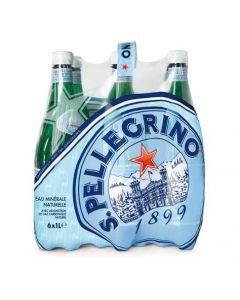 S.Pellegrino Sparkling Natural Mineral Water PET Bottle 6 x 1 LTR