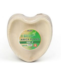 """ECO-TOUCH ARECA HEART PLATE 8"""" BIG"""