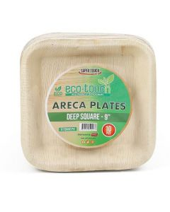 """ECO-TOUCH ARECA DEEP SQUARE PLATE 9"""""""