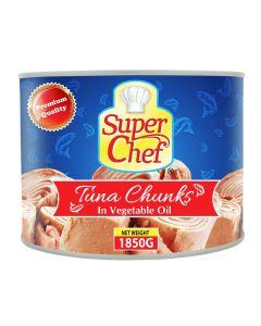 SUPER CHEF TUNA CHUNKS IN OIL 1850GM