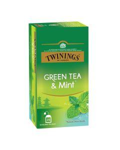 TWININGS GREEN MINT TEA 25 X 2 GM